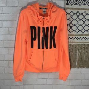 Pink Zip Up Hoodie Size Large
